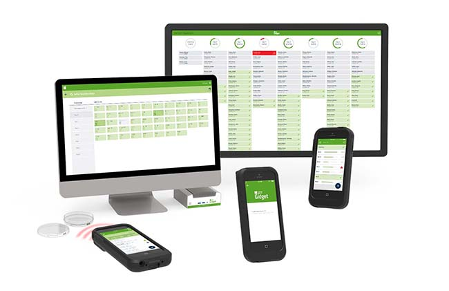 Genea Biomedx Gidget on different various devices